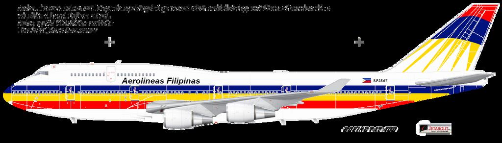 Aerolineas Filipinas 747 by kyuzoaoi