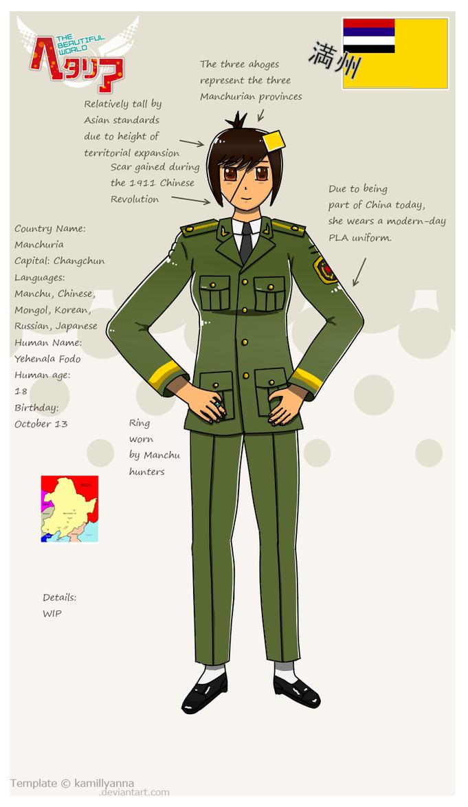 Hetalia Manchuria Profile by kyuzoaoi