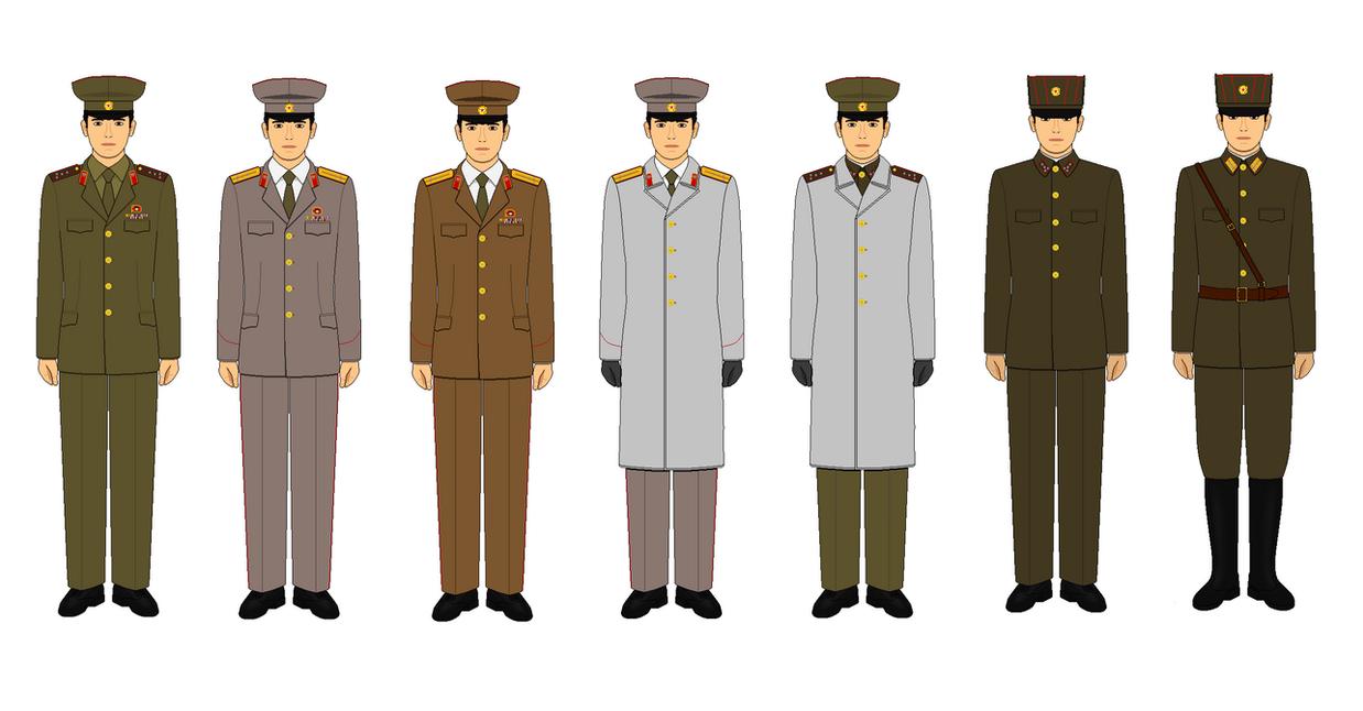 Ranks In Marine >> North Korean military uniforms by kyuzoaoi on DeviantArt