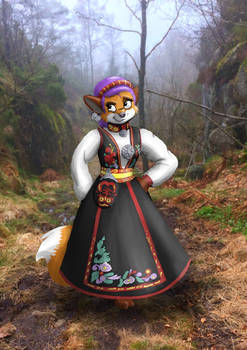 Fox in the forest - Mistel