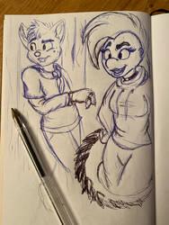 Summer sketch - Friends