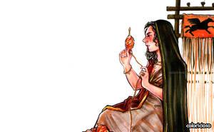 Persephone weaving