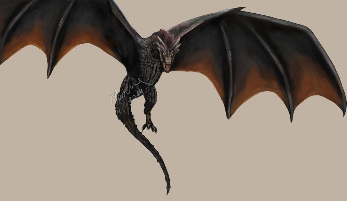 Game of thrones drogon by acinoyx on deviantart