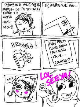 Diary Comic - Maid Cafe