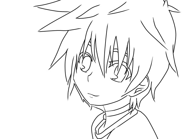 Lineart Anime Boy : The gallery for gt sad anime boy base