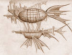 Airship by Afireonthesnow