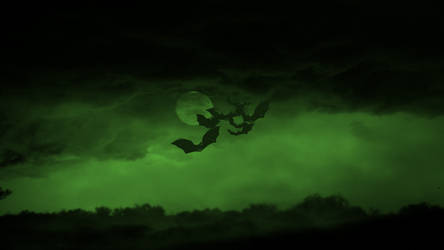 Bat Moon Green