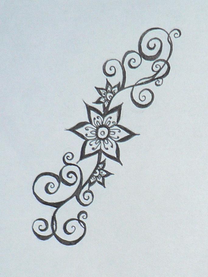 Henna Tattoo Easy Flower: Smaller Henna Flower Design By Beffychan On DeviantArt
