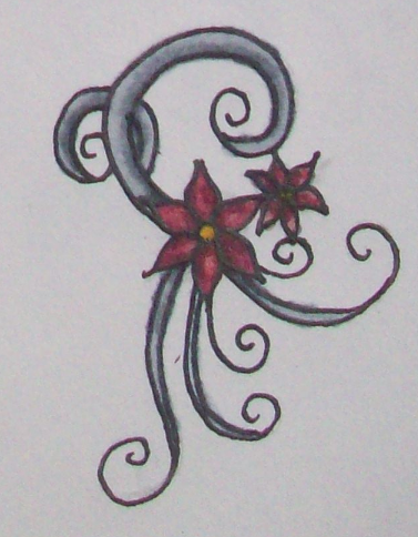 Flower Swirls Tattoo Beffychan Deviantart
