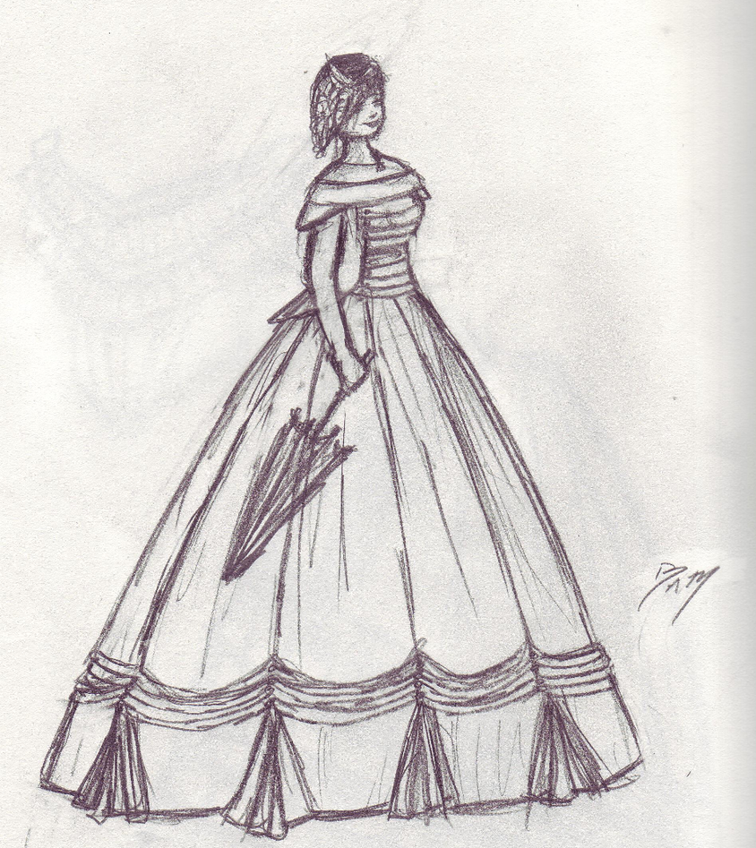ball gown dress drawings - photo #15