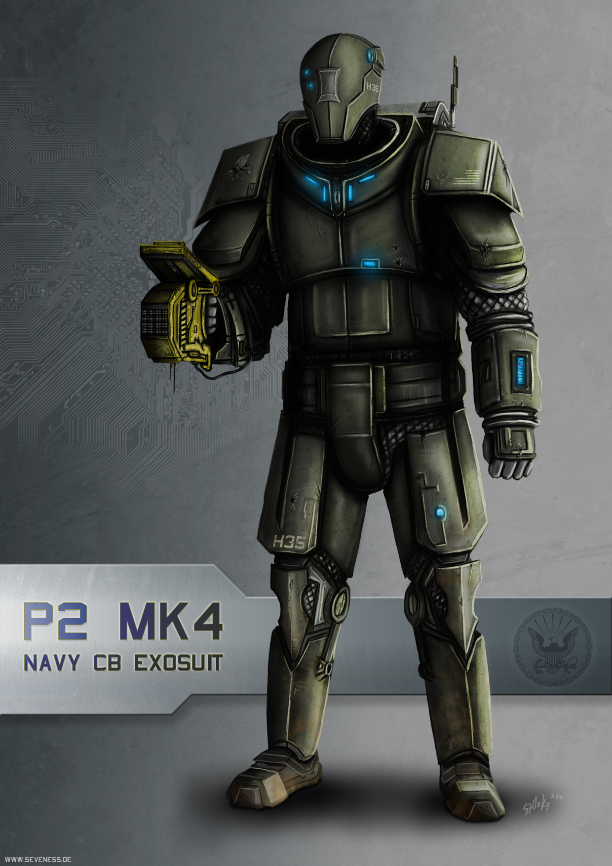 navy exosuit by SpOoKy777Military Exosuit