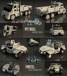 Vehicle Models: Pit Bull Truck/Pintel ATV by SpOoKy777