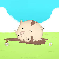 Playful Piggie by sixfragments