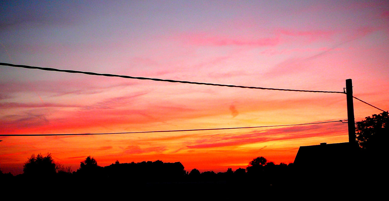 Evening sunset. by Bermiro