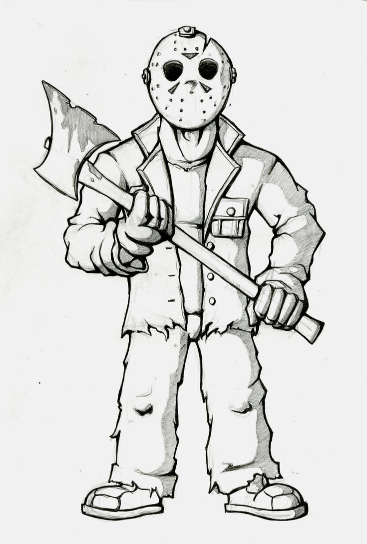Jason Voorhees 465030672 on scary cartoon monsters to draw