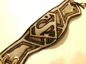 Superman Custom cuff by hellcattheassassin