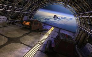 Space hangar by Hupie
