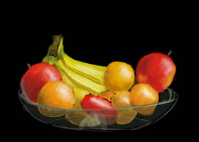 Fruit Bowl Black Back by Hupie