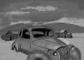 Old Rusty Car by Hupie