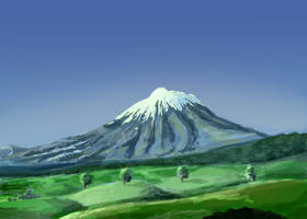 Mountainscape Green by Hupie