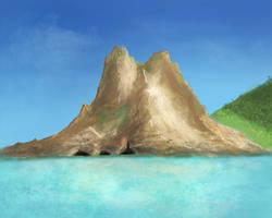 Tropisch Zee Berg by Hupie