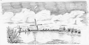 Dutch clouds and mills