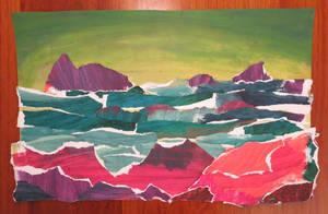 shapes study ocean by Hupie