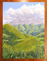 Green mountains landscape by Hupie