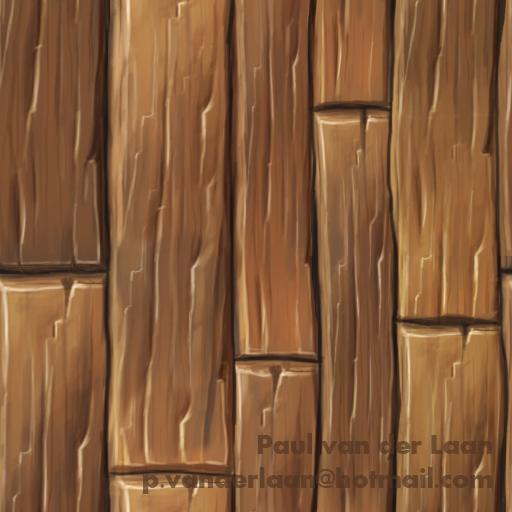 Handpainted Wood Planks A