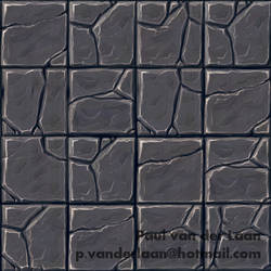 Hand-painted Rock Tile floor texture by Hupie