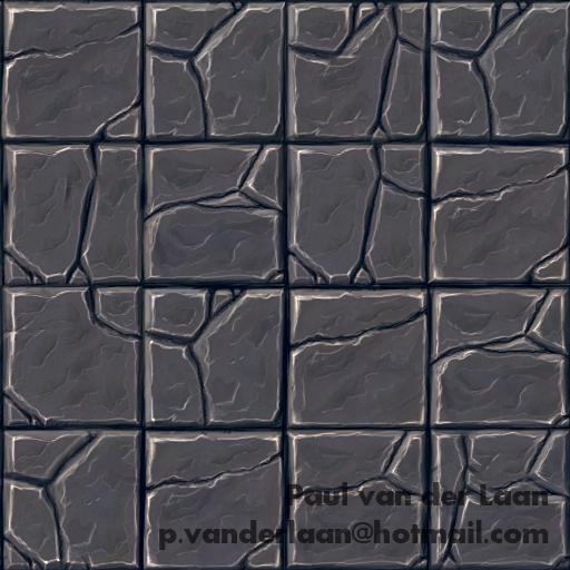 Hand-painted Rock Tile floor texture