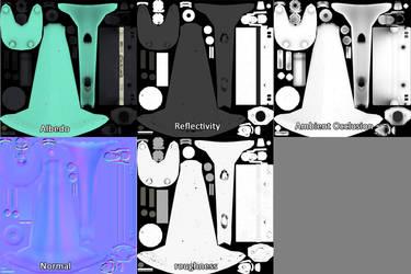 Texture maps from Milk Mixer by Hupie
