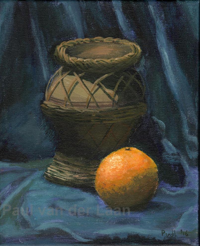 Still Life Orange with Jar by Hupie