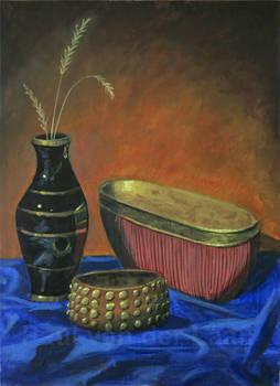 Still Life Vase, Pot and Bracelet