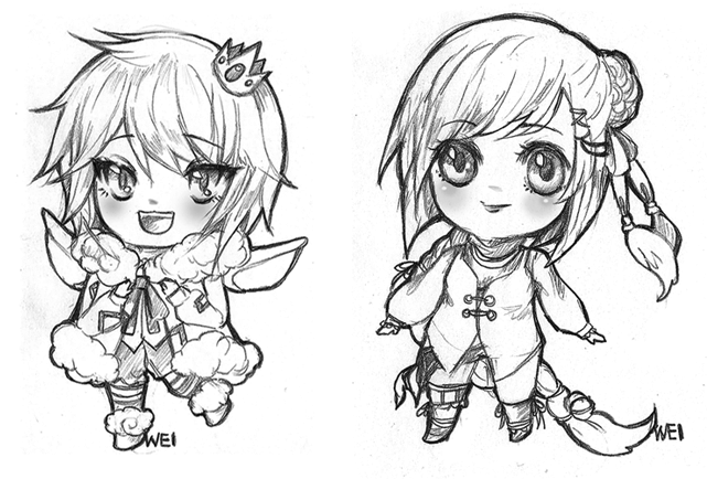 Pencil chibi by weiyua