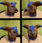 Griffon Fursuit Head For Sale by Psycho-Snail