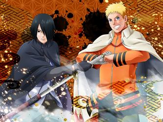 Naruto Uzumaki and Sasuke Uchiha  [Leave It to Us] by DP1757