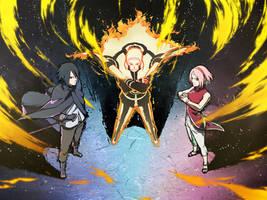 Adult Naruto, Sakura, Sasuke | Ninja Tribes Art