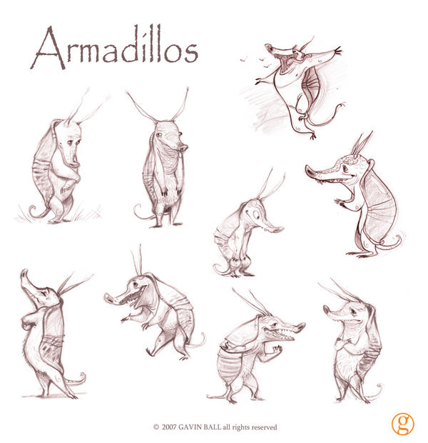 Amadillo Concepts by oddballinc