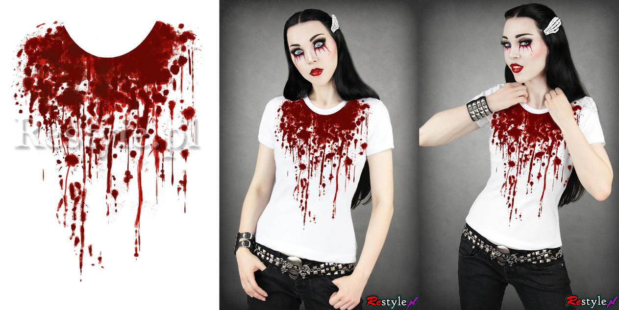 Blood t-shirt by Euflonica