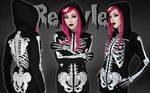 Skeleton hoodie by Euflonica