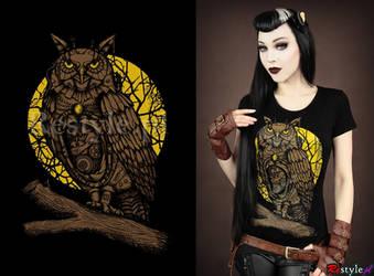 Steampunk Owl by Euflonica
