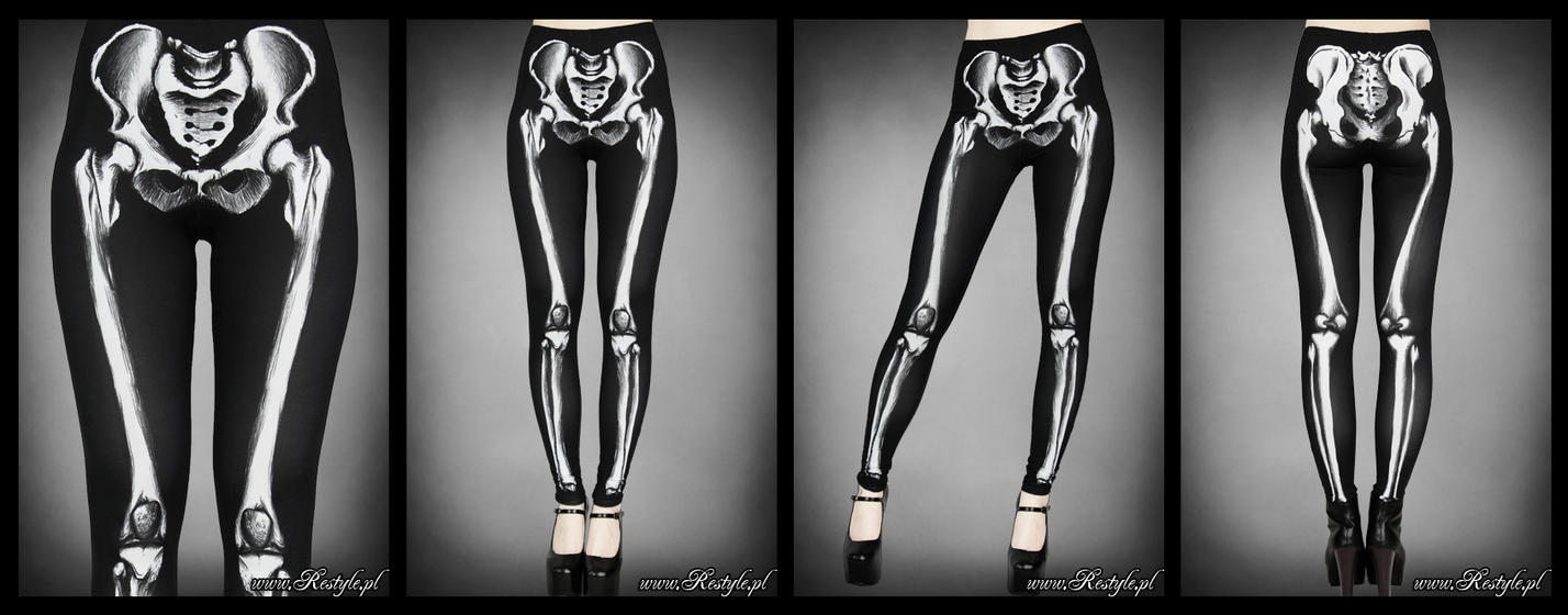 Skeleton leggings by Euflonica