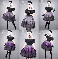 Cemetery Skirt Grey