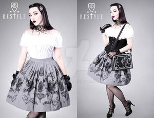 Crows and Lanterns Skirt