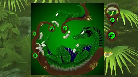 Reitselai Dragons - Percussion (green) v.2 by Retsamehtmai
