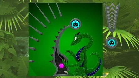 Reitselai Dragons - Synth Wave (green) v.2 by Retsamehtmai