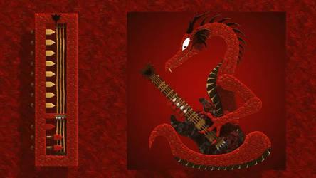 Reitselai Dragons - Guitar v.3 (red) by Retsamehtmai