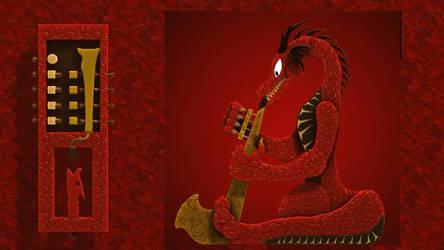 Reitselai Dragons - Bassuba v.3 (red) by Retsamehtmai