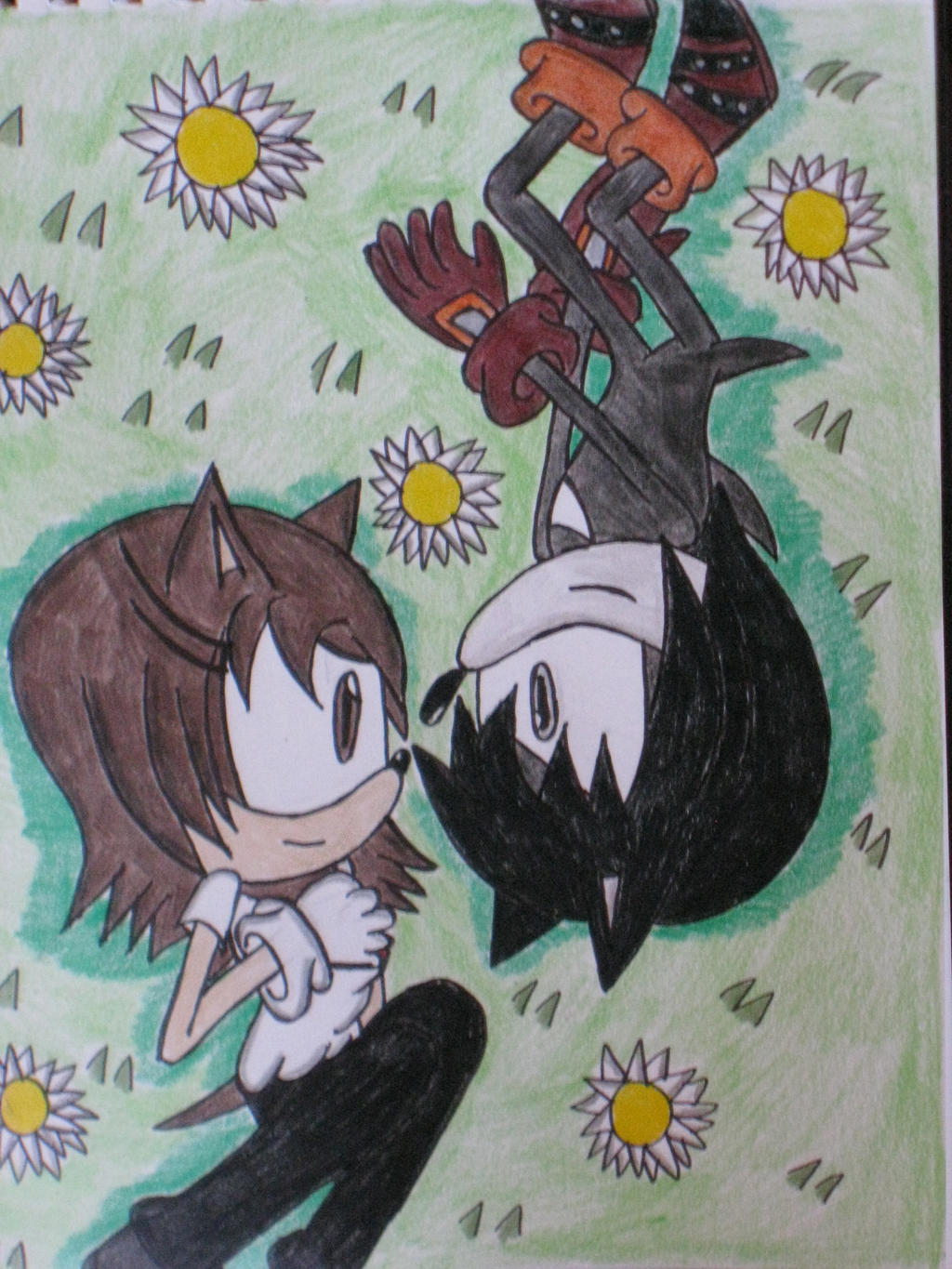 Catrina and Darkness hang out by cat55